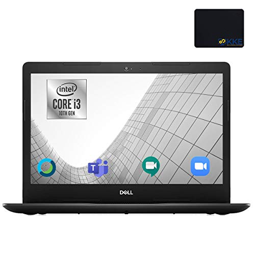 Dell Inspiron 14' HD Laptop, Intel i3-1005G1, 8GB DDR4 Memory, 1TB HDD, Online Class Ready, Webcam, WiFi, HDMI, Bluetooth, KKE Mousepad, Win10 Home, Black