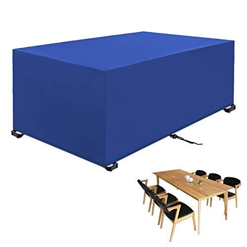 BAJIAN-LI Cubiertas para muebles de jardín impermeables, cubiertas para mesa al aire libre, resistente a desgarros 420D tela Oxford cubierta para patio, para muebles de interior o exterior