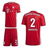 adidas FCB FC Bayern München Home Kit Heimset 2020 2021 Kinder Odriozola 2 Gr 164