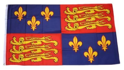 Fahne / Flagge UK Royal Banner 16. Jh. NEU 90 x 150 cm