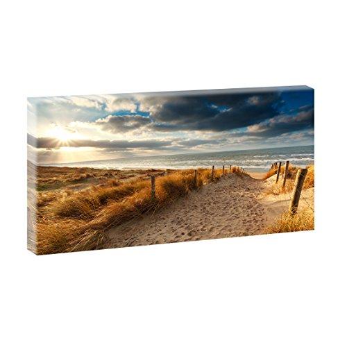 Weg zum Strand 4 | Panoramabild im XXL Format | Kunstdruck auf Leinwand | Wandbild | Poster | Fotografie | Verschiedene Formate und Farben (40 cm x 80 cm, Farbig)