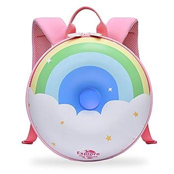 TIANLI Toddler Backpack for Kids Doughnuts Shaped Backpack Waterproof Kindergarten Backpack Travel Bag for Boys Girls  Rainbow