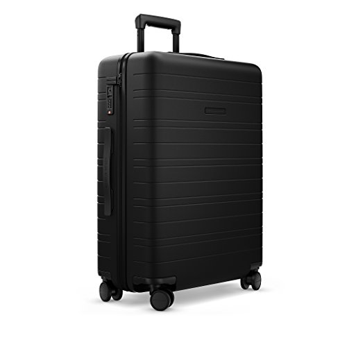HORIZN STUDIOS H6 Check-In Reisekoffer (65 L) mit integrierter, herausnehmbarer Powerbank und eingebautem Raumtrenner zur Komprimierung. Für Reisen 7-10 Tage. (All Black)