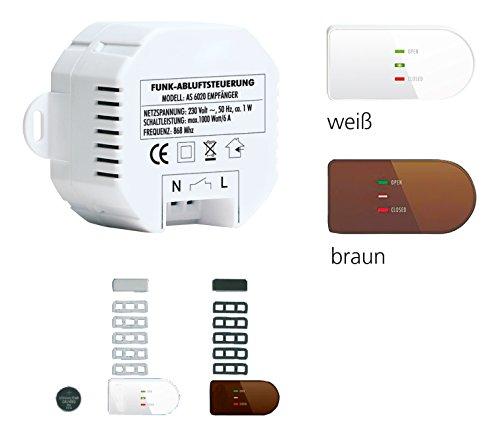 Bielmeier V854015 Wandhaube / 20 cm/kabellose Übertragung/weiß/braun