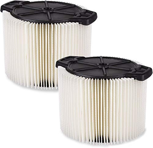 WORKSHOP Wet/Dry Vacs Vacuum Filters WS11045F2 Standard Wet/Dry Vacuum Filters (2-Pack - Shop Vacuum Filters) For WORKSHOP 3-Gallon To 4-1/2-Gallon Shop Vacuum Cleaners, White