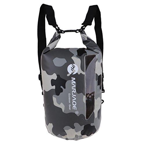 D dolity Agua Densidad funda–Petate Dry Bag Mochila para secar Saco Roll Saco Roll Saco Bolsa camping Deportes acuáticos Saco, camuflaje