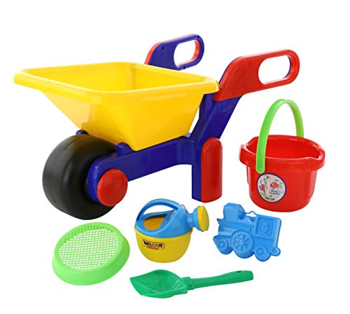 Wader Quality Toys 41838 Eimergarnitur, Mehrfarbig