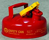 Eagle UI-4-S Red Galvanized Steel Type I Gas Safety Can, 2 quart Capacity, 8.75' Height, 6.75' Diameter