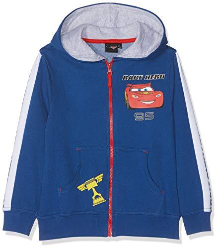 Disney Cars Jungen 5924 Kapuzenpullover, Blau, 116