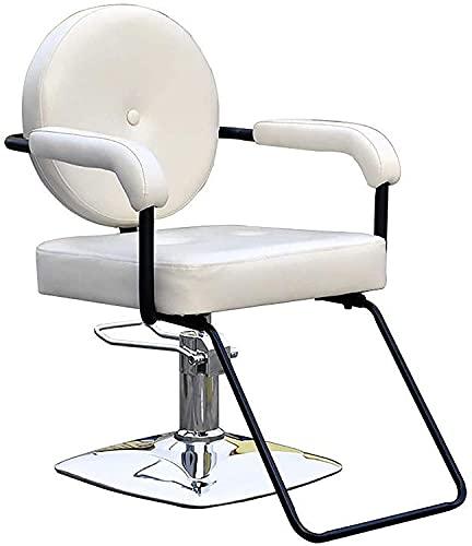 Sillas de barbero para estilista, sillón de peluquero eleva