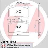 Zimmermann 23575.160.1 Serie Pastiglie Freno, Anteriore, 1 Sensore, 4 Piastre Antivibrazione, Incluse Accessori
