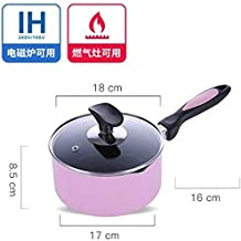 Kitchen Cookware Non-Stick Pot Cooking Noodle Baby Auxiliary Milk Mini stew Steamer pan Glass lid Small Soup Saucepan elec...