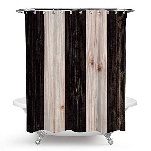 QCWN Karo-Duschvorhang, Mosaik Duschvorhang, Retro-Gitter-Duschvorhang, mit Haken für Badezimmer-Dekor 59