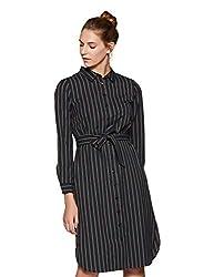 Van Heusen Woman Womens Shirt Knee-Long Dress