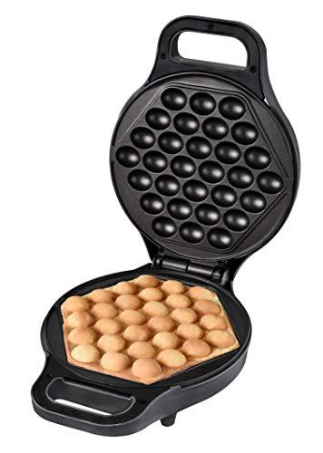 Kalorik TKG EWM 1001 Kantonesischer Eierwaffelbäcker für Original Egg Puffs, Metall, Kunststoff, Antihaftbeschichtung, Anthrazit