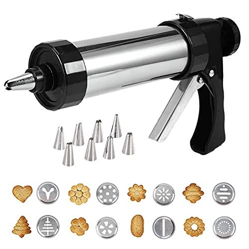 Biscuit Maker,máquina Galletas Molde para Repostería, Máquina para Hacer Galletas para Hornear De Bricolaje, con 8 Moldes De Disco Y 8 Boquillas para Decoración De Tartas Y Galletas