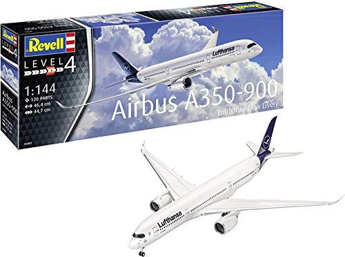 Revell GmbH Revell 03881 3881 1:144 Airbus A350-900 Lufthansa New Livery - Kit de Modelos de plástico, Multicolor, 1/144