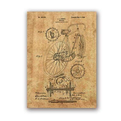Racing Bicycle Artwork Bicycle Wall Art Canvas Painting Poster Home Decoration 40x50cm