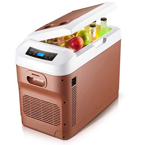 QMYYHZX Nevera de Coche,28 litros Mini Nevera,Mini refrigerador de 12 V Refrigerador portátil para Acampar con congelador, Adecuado para el Cuidado de la Piel Cosmético Dormitorio de Hotel