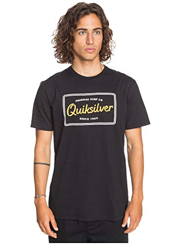 Quiksilver Herren T-Shirt Blazing Back - T-Shirt für Männer, Black, S, EQYZT06155