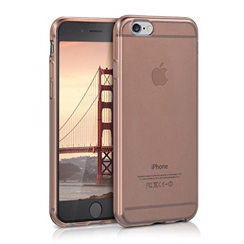 kwmobile Hülle kompatibel mit Apple iPhone 6 / 6S - Silikon Handyhülle transparent - Handy Case in Rosegold