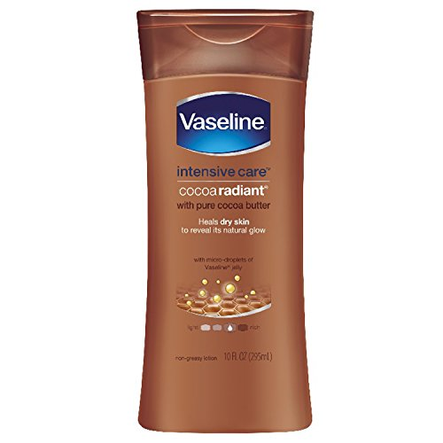 Vaseline Intensive Care Body Lotion, Cocoa Radiant, 10 oz, 4 count