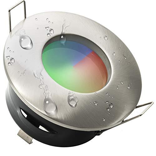 Einbaustrahler IP65 LED Farblichttherapie Dusche Badezimmer RGB 3W 12V Netzteil