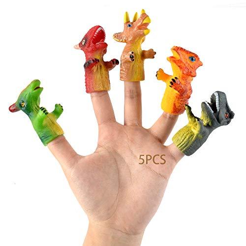 MEISHANG 5PCS Tiny Hands,Finger Puppen Dinosaurier,Winzige Fingerhände,Hand Prop Zubehör,Spielzeuge Handpuppe Set,Finger Requisiten,Mini Finger,Kleine Hände
