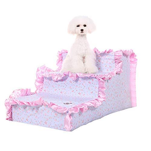 DNSJB Huisdier Hond Ladder Puppy Trappen Op Het Bed, 3-staps Catwalk Voor De Geavanceerde Bank, Medium Huisdier Trap, Maximale belasting: 15 Kg