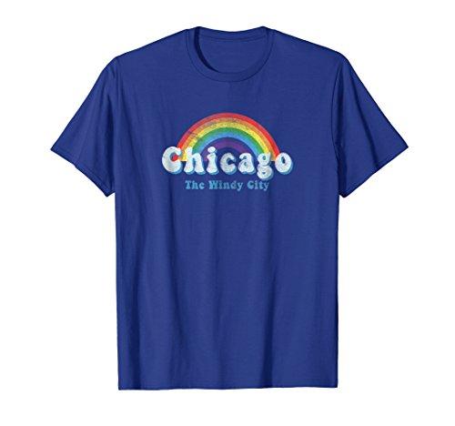 Chicago LGBTQ Gay Pride Rainbow T Shirt