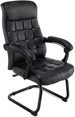 JFFFFWI Silla de Escritorio de Oficina en casa 140 & deg;sillón reclinable de ángulo Grande Silla de computadora de PU Apoyabrazos Acolchados entrelazados Diseño de pie de Arco Capacidad de Carga 3