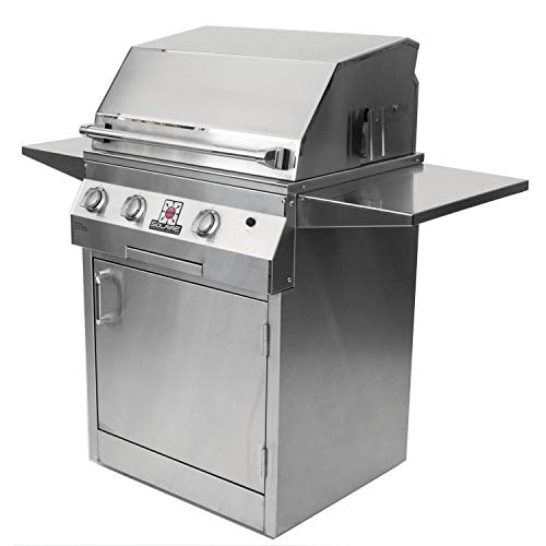 Solaire 27-Inch Deluxe Infrared Natural Gas Grill on Square Cart Base with Rotisserie Kit, Stainless Steel 12-Month Financing Gas Grills Natural