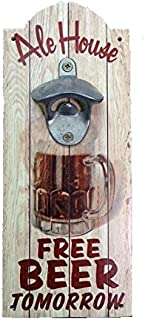Nautical Tropical Imports 13 Inch h Free Beer Tomorrow Wall Mount Bottle Opener