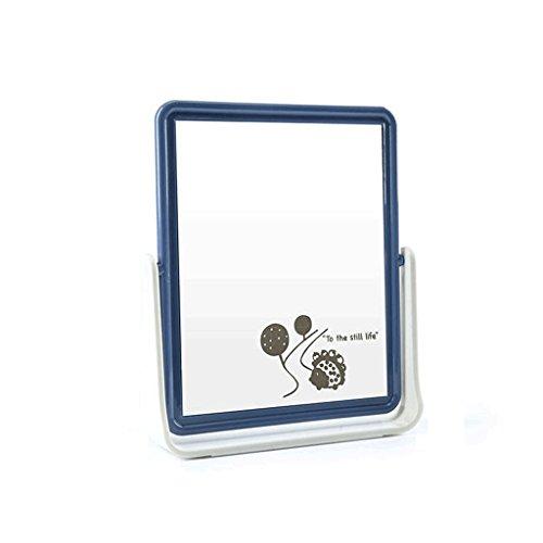 Rotatif Double-face Miroir de Bande Dessinée Bureau Bureau Maquillage Miroir De Mode Miroir De Vanité Rectangulaire De Table Miroir De Maquillage Miroirs Miroirs Rotatifs Motif Aléatoire (13 * 3.5 * 16.5 cm) Xuan - worth having