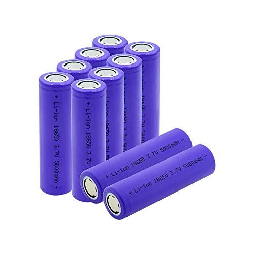 hsvgjsfa Batería Li Ion De 18650 3.7v 5000mah, Recargable para El Faro del Banco del Poder 10PCS