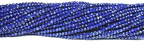 Inexpensive GemAbyss Beads New York Mall Gemstone Afghan Blue Lazuli Lapis Micro L Faceted