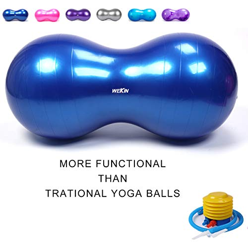 Wekin Physio Roll Therapy Fitness Excercise Peanut Ball for Balance,...