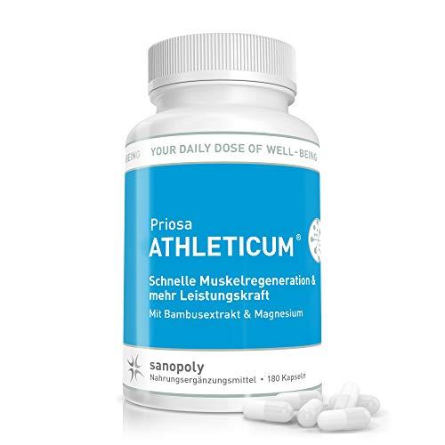 SANOPOLY Priosa® ATHLETICUM 180 Kapseln I Höchstleistungsfähigkeit + starker Muskelaufbau + schnelle Regeneration I Nährstoffmix mit Aminosäuren, Mineralien, Spurenelemente & Vitamine I Vegan