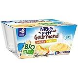 Nestlé Bébé P'tit Gourmand BIO - Coupelle lactée Pêche, Vanille -...