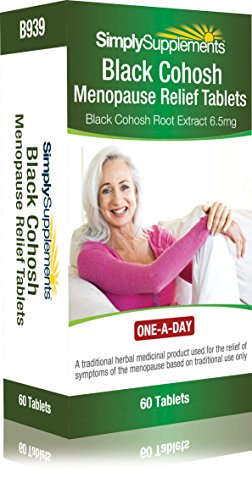 Black Cohosh Menopause Relief Tablets   Potent One-a-Day Formula   60 Tablets = 2 Month Supply   Traditional Herbal Remedy   Vegetarian Safe Supplement