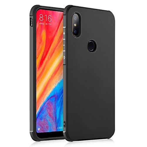 """Funda Xiaomi Mi Mix 2S 5.99"""",XunEda Ultra Ligero Caso de Plástico Duro Antideslizante Protectora Carcasa con Protector de Pantalla para Xiaomi Mi Mix 2S Smartphone.(Negro)"""