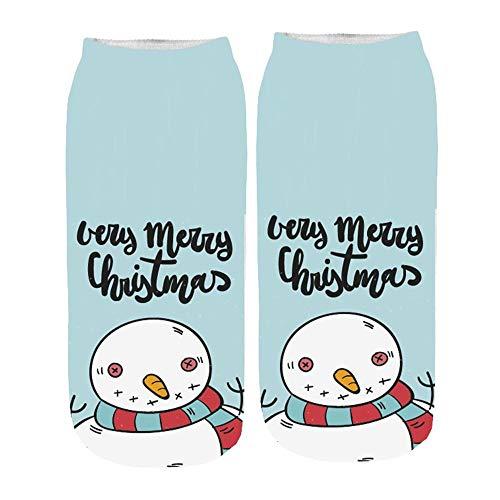 TIGERROSA katoenen sokken dames 3D cartoon unisex korte sokken Funny Christmas Crazy schattig geweldig nieuw print sokjes Fashion Cotton Socks Style J