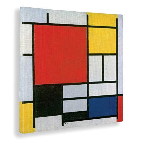 Giallobus - Bild - Piet Mondrian - Komposition in Rot, Gelb, Blau und Schwarz - Druck auf Leinwand - Bereit zum Aufhängen - Verschiedene Größen - 70x70 cm