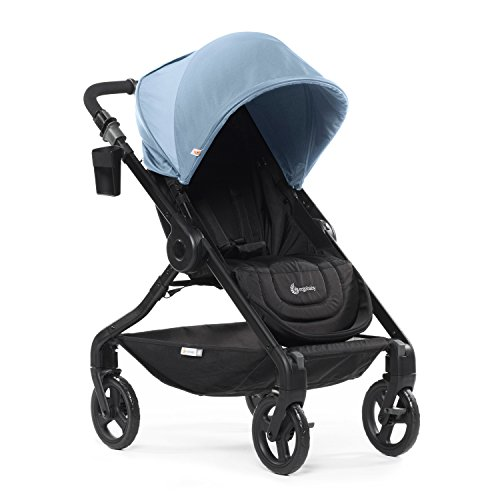 Ergobaby Stroller, Travel System Ready, 180 Reversible with One-Hand Fold, Misty Blue