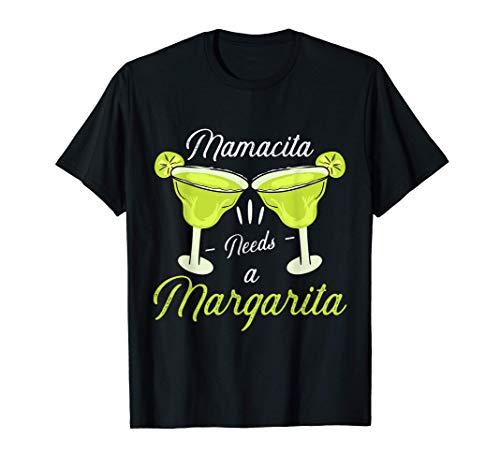 Mamacita Needs Margarita Funny Cinco De Mayo Drinking Women Camiseta