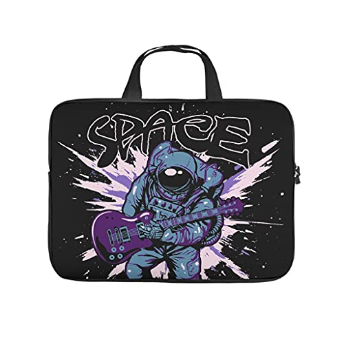 Space Laptop Tote Bag ligero repelente al agua portátil para el trabajo, negocios, escuela, universidad, viajes y música, White (Blanco) - Qunrontan670