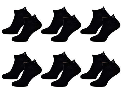 Ozabi Herren-Socken, LOTTO Gr. One size, 6 Paar Sneaker Lotto, schwarz