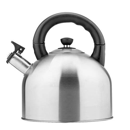 FANg Bollitore in Acciaio Inox Whistling Campeggio Bollitore Macchine del tè, Outdoor Indoor Caldeo di Gas for Caccia Pesca Outdoor-Rosa bollitore Campeggio Esterno (Color : Silver)