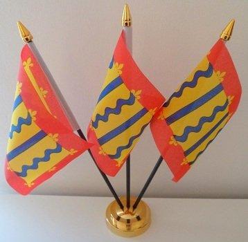 Cambridgeshire Cambs 3 drapeau affichage de bureau avec Base dorée