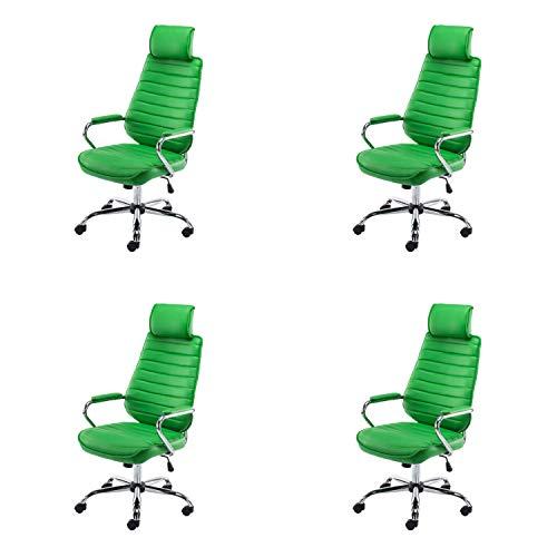 Lüllmann Rako - Silla giratoria de oficina (4 unidades), color verde